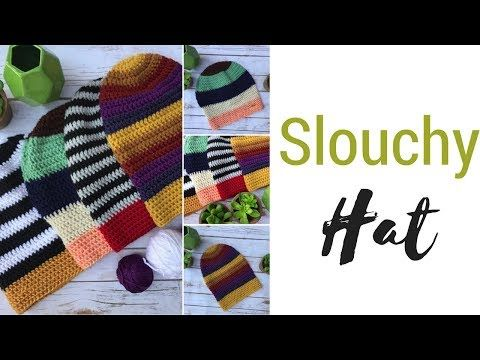 dc8625ea175 Crochet Pattern  Slouchy Beanie by Olena Huffmire Designs (with video!)