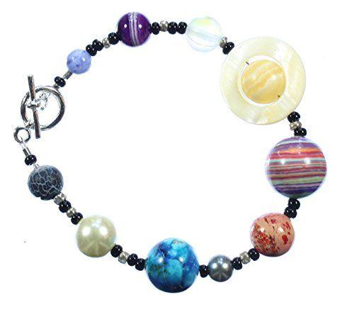 """The Nine Planets Bracelet"" a Bracelet of Our Solar System, 8 Inches Smurph http://www.amazon.com/dp/B00M4JH5LC/ref=cm_sw_r_pi_dp_eA6yvb1NSNNB3"