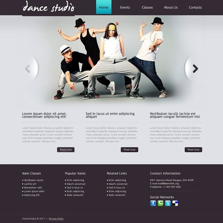 Is this your fave? Dance Studio Drupal Template CLICK HERE! live ...
