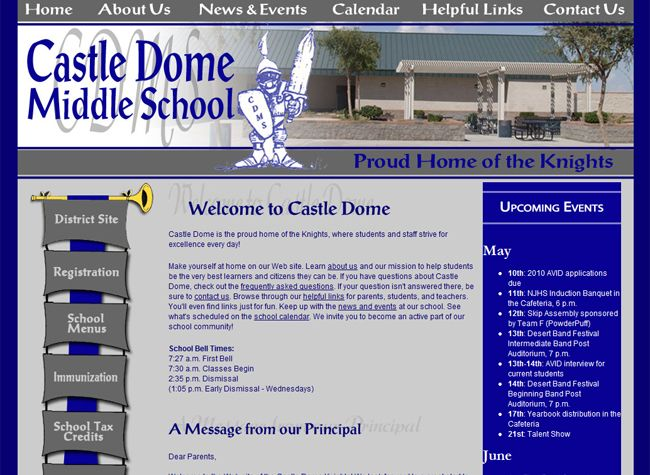 Castle Dome Middle School Middle School School Student Activities