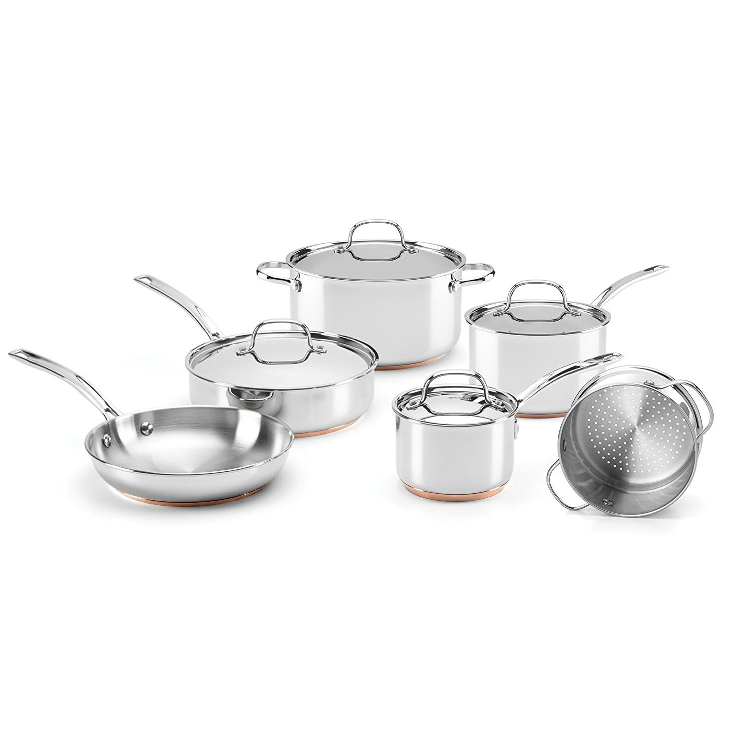 Food And Wine For Gorham Stainless Steel 10 Piece Cookware Set