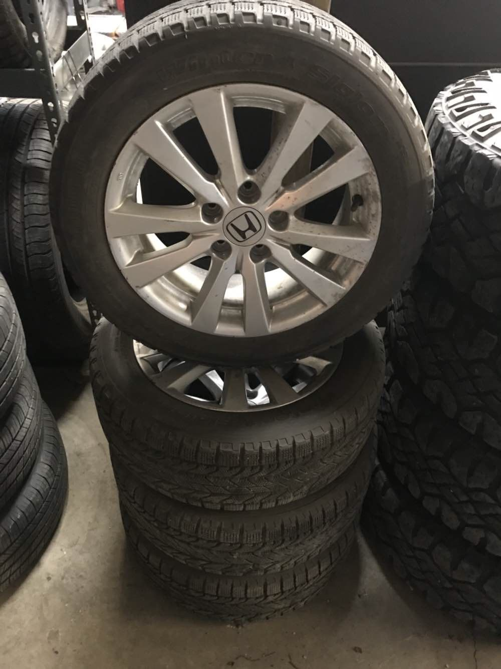 Rims And Tires Canada >> 205 55r16 Bfg Snow Tires On Honda Rims Used Tires Canada