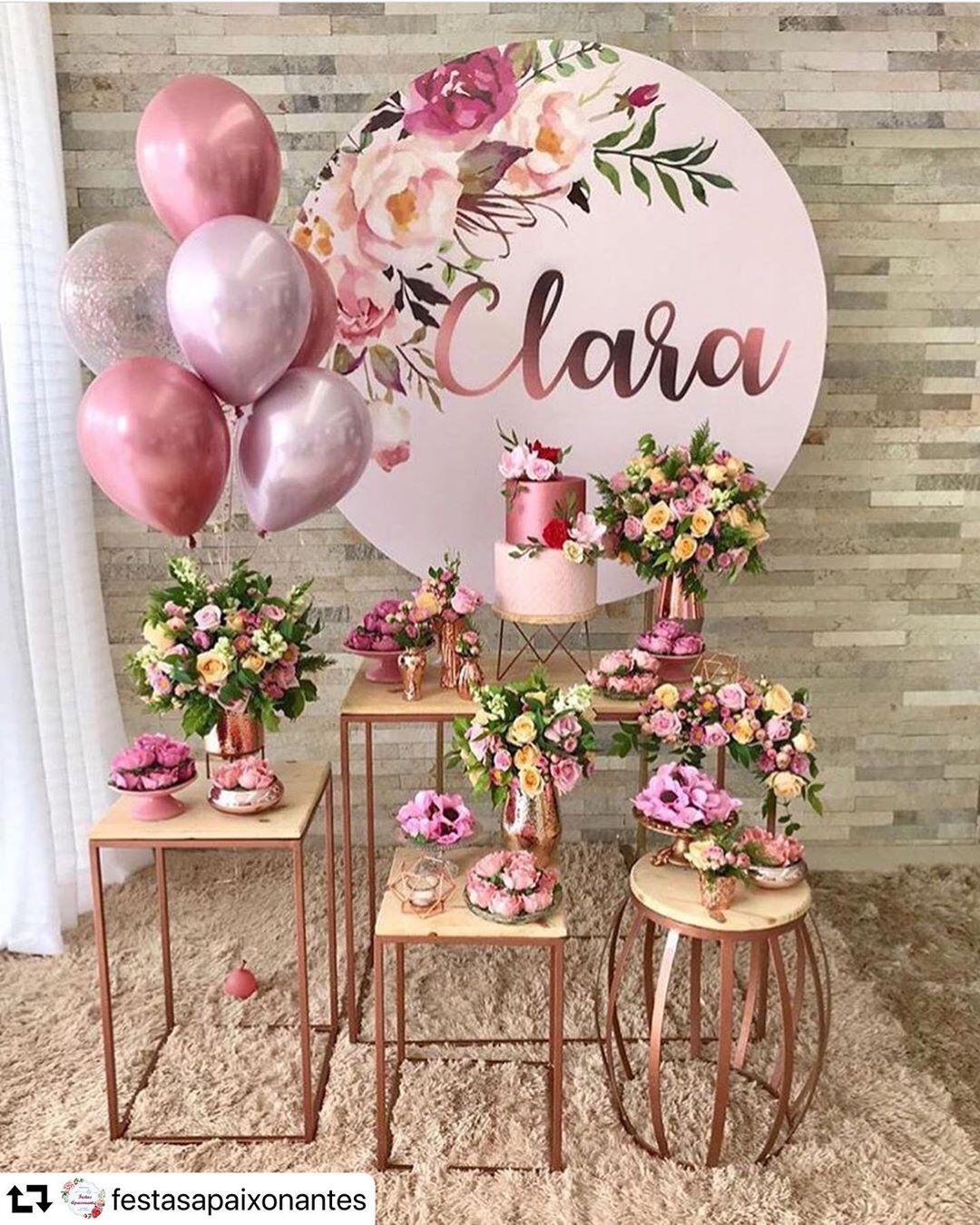 Inspiração linda para mini table Rose Gold 💕 . #repost @festasapaixonantes ・・・ 😍…   Festa de ...