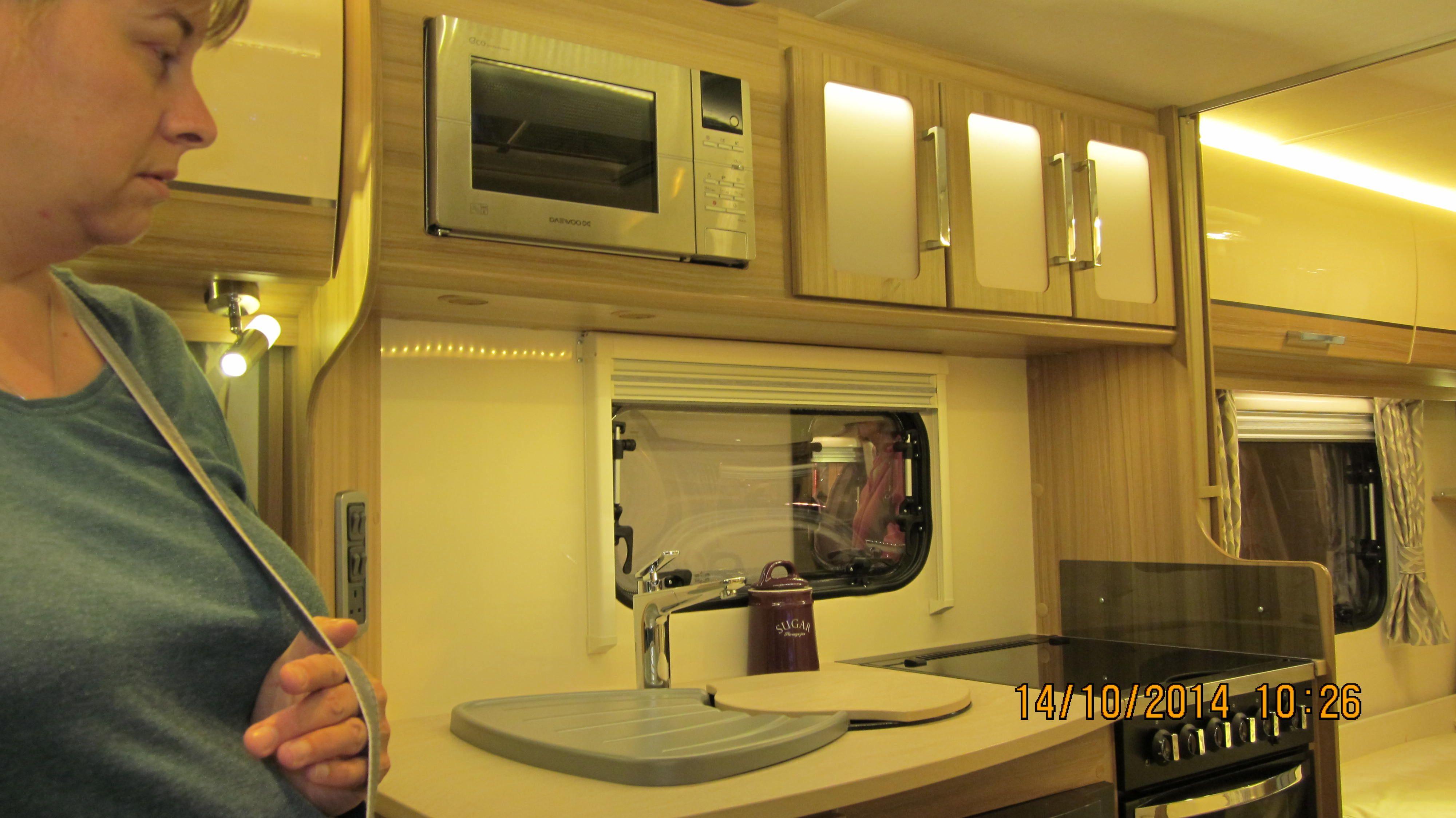 Lunar Clubman Sb Kitchen Area Microwave Above Sink Small Fridge