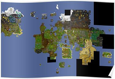 runescape world map poster Oldschool Runescape World Map Posters World Map Poster Old