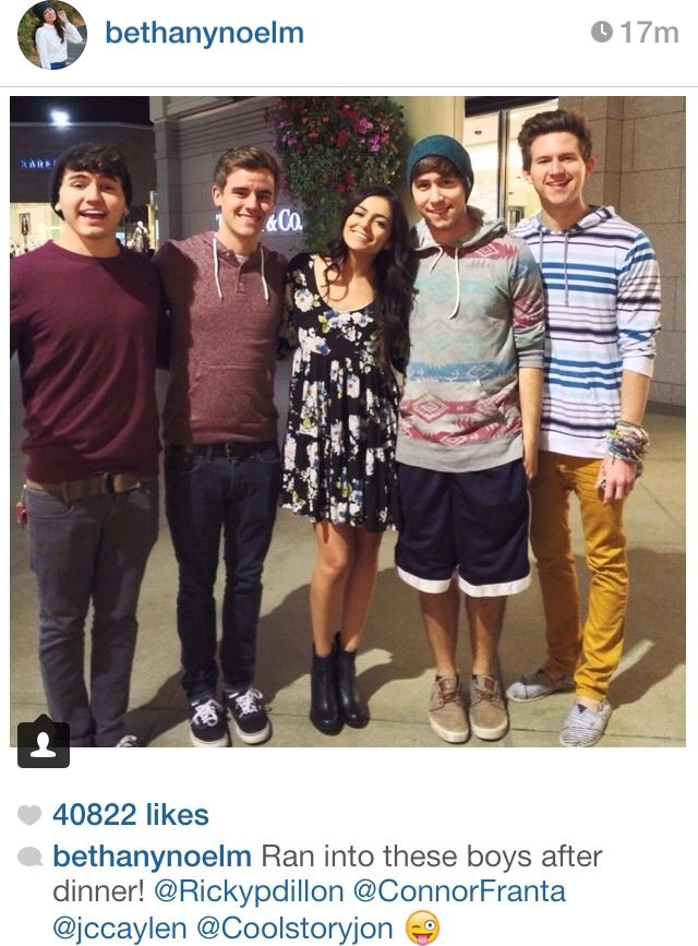 Is bethany mota dating connor