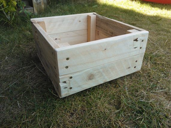 Wooden box made from reclaimed pallet wood by GoodsForHome on Etsy, £10.00