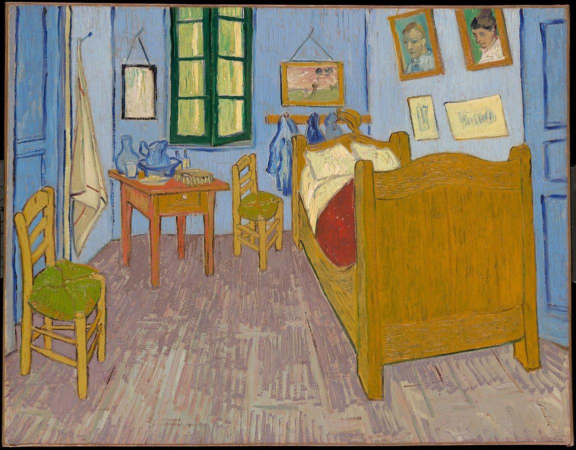 La chambre de Van Gogh à Arles en 1889 huile sur toile H. 0.573 ; L ...