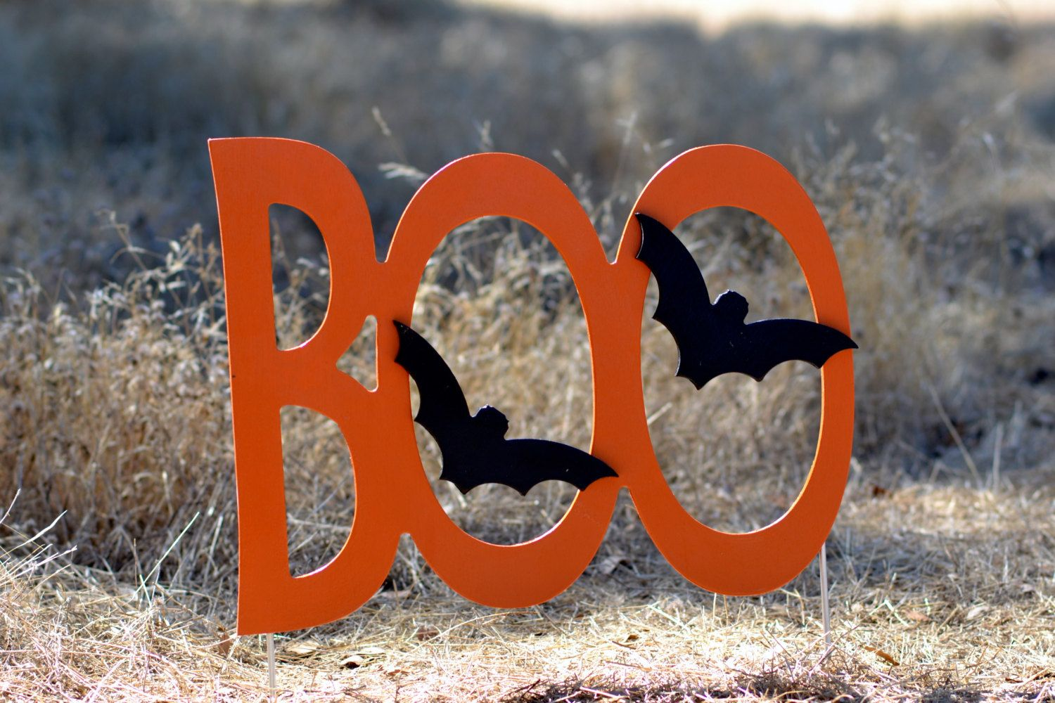 Halloween Boo  Yard Sign by IvysWoodCreations on Etsy, $44.95