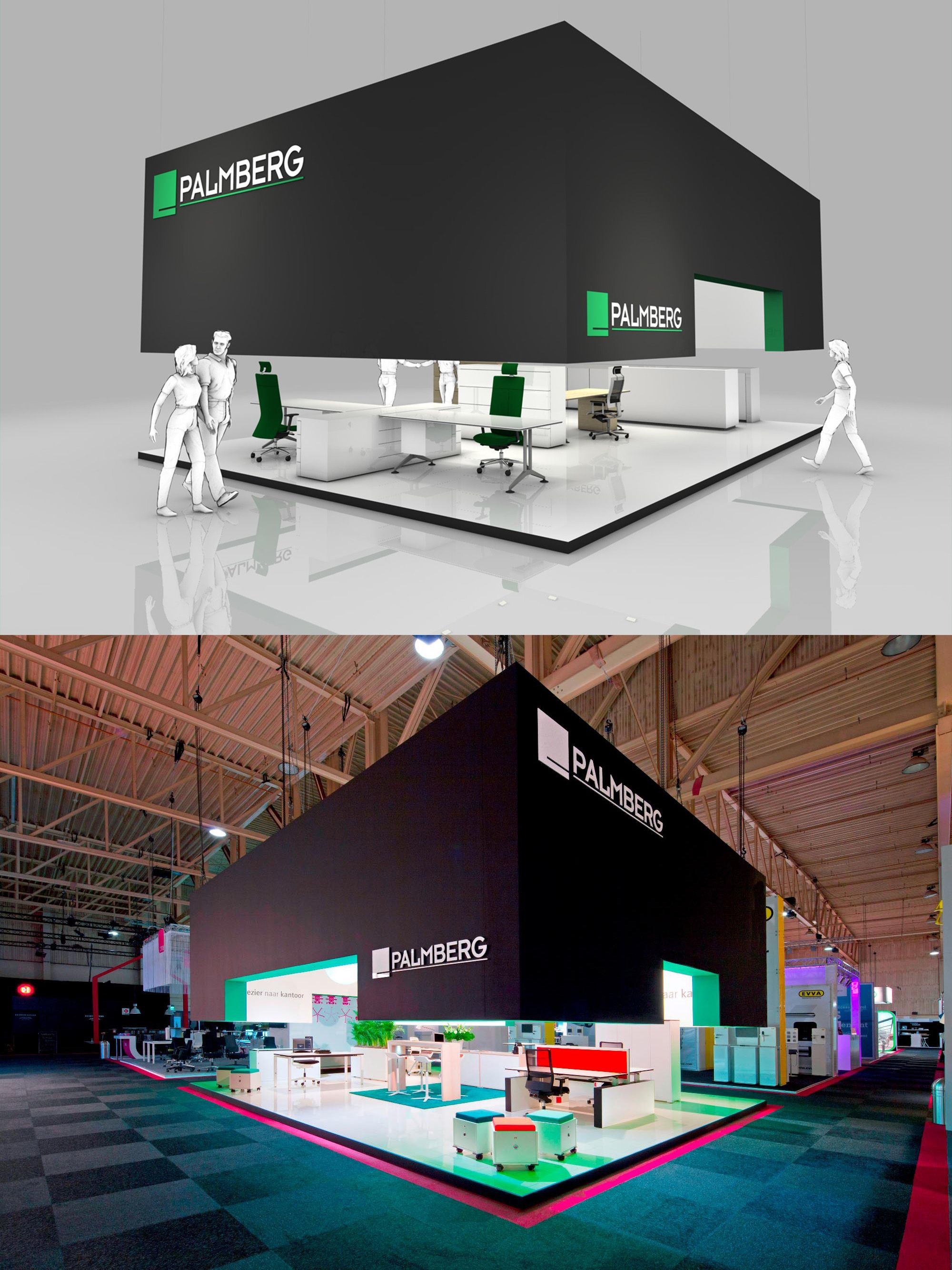 Exhibition Stand Building : Exhibition stand design and booth from the inside stand building