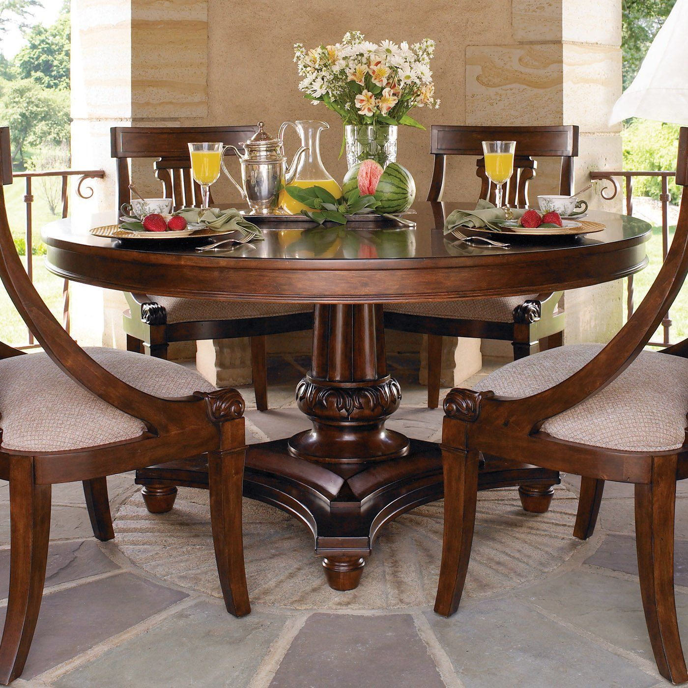 Kincaid Furniture Sturlyn Round Dining Table Round Dining Room Sets Dining Table Design Round Dining Table