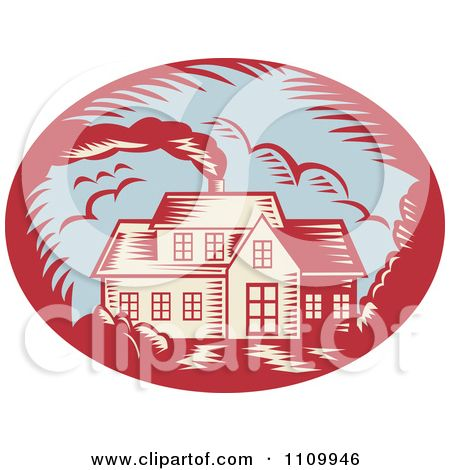 Clipart Retro Woodcut House With Smoke Rising From The Chimney Royalty Free Vector Illustration By Patri Free Vector Illustration Woodcut Vector Illustration