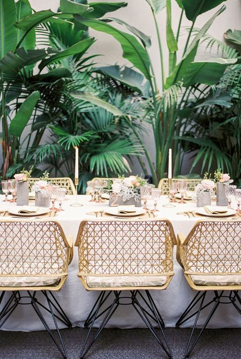 Tropical Tablescape Pink And Gold Wedding Tropical Home Decor Table Decorations