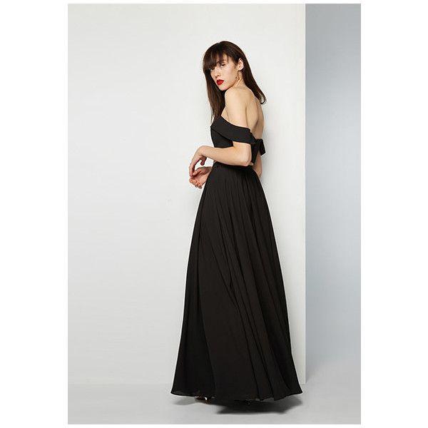 Long black evening dress by st gillian