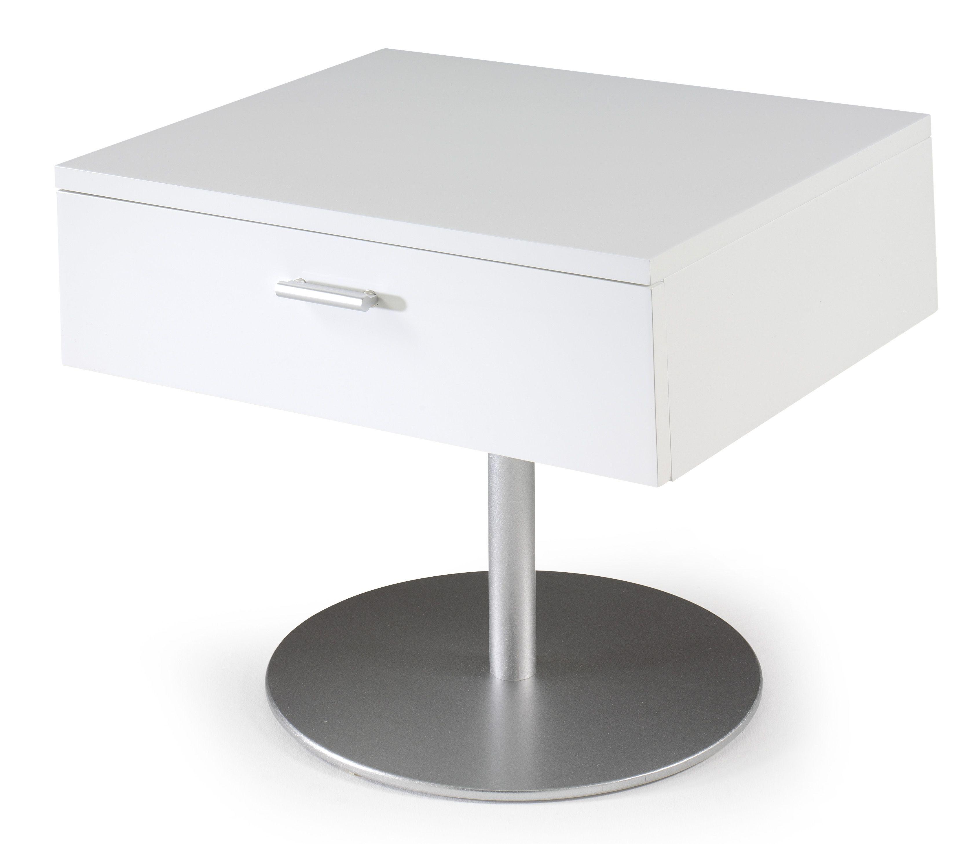 table de chevet design blanc laque kara