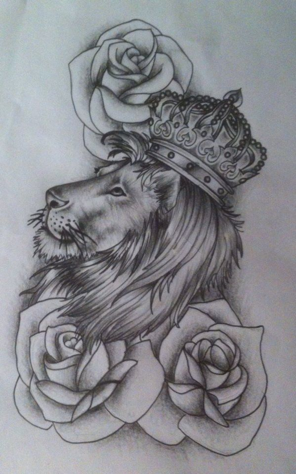 08edd1692 roses and lion tattoo - Google Search Flower Tattoo Drawings, Flower Tattoo  Designs, Tattoo