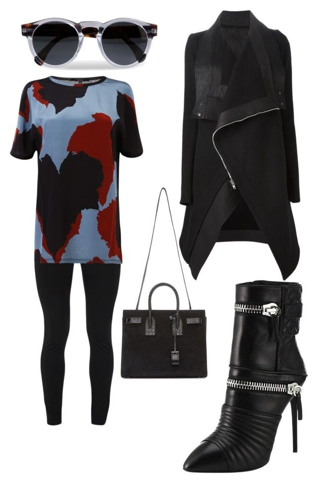 """Sunday..."" by muscateguim on Polyvore featuring moda, Giuseppe Zanotti, Yves Saint Laurent, Peace of Cloth, Gucci, Rick Owens y Illesteva"