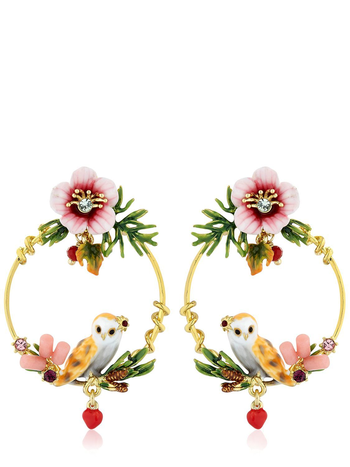 a16719d1e Gold plated brass. Enameled details. Hand-painted. Hypoallergenic . Nickel  free. Post back closure