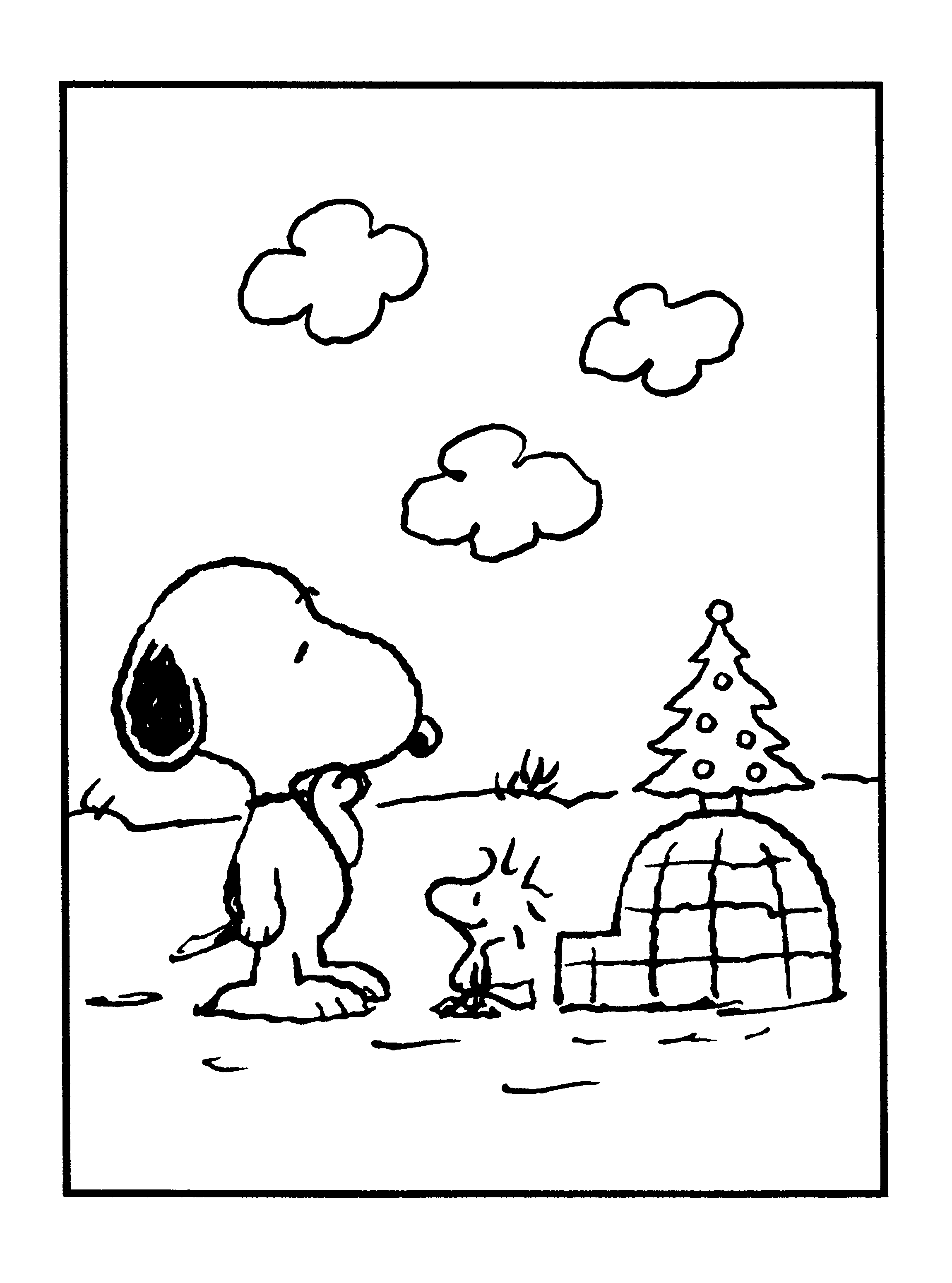 peanuts xmas coloring and activity book | snoopy + woodstock