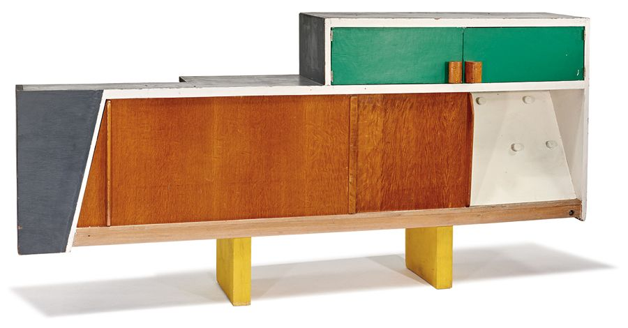 lot 015 kitchen cabinet from unite d 39 habitation marseille le corbusier october 11 2015. Black Bedroom Furniture Sets. Home Design Ideas