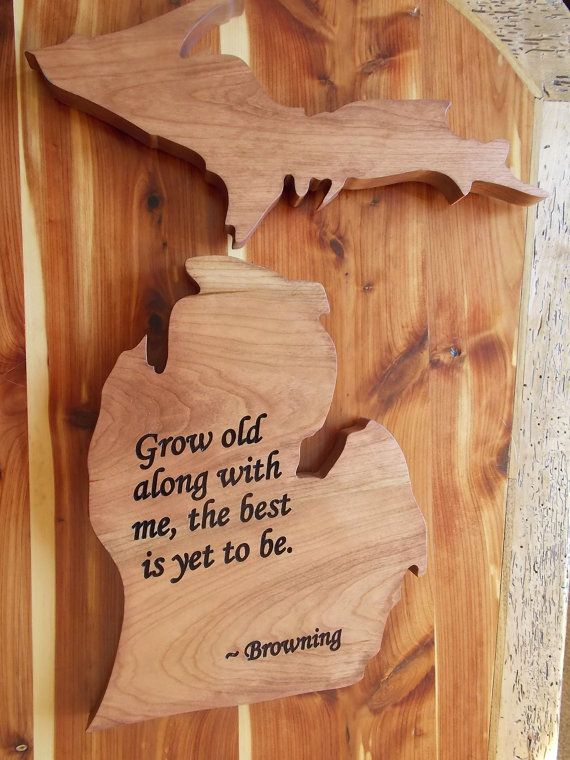 74  Browning Home Decor   Browning Home Decor And Accessories For     Browning Home Decor Pillows  Michigan State Shape Wood Cutout Wall Art  Robert Browning Poem Customize With YOUR Own