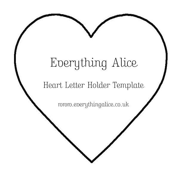 Free Heart Shape Template