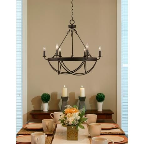 Lyster Square 28 Wide Oil Rubbed Bronze Chandelier Y2256