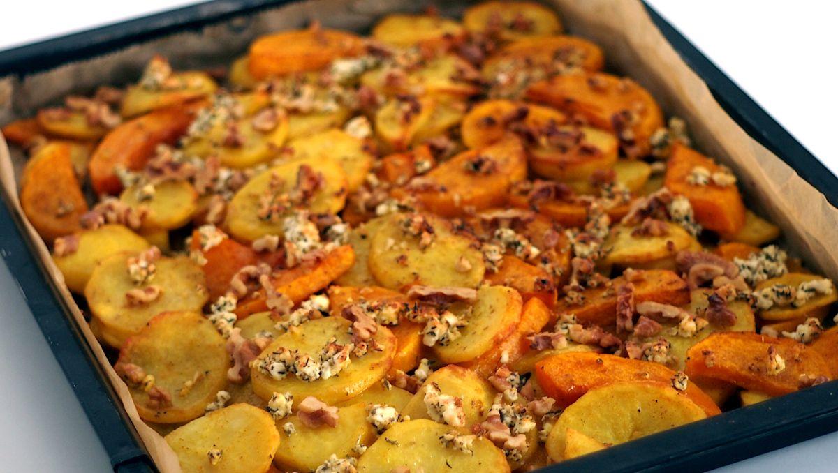 Herbst aus dem Ofen – Kürbis und Kartoffeln mit Rosmarin und Walnüssen! – Preppie and me #kartoffelnofen