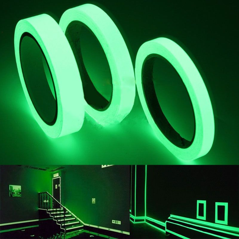 Luminous Tape Stripe Glow in Dark Wall Sticker Safety Fluorescent Tape 3 Sizes