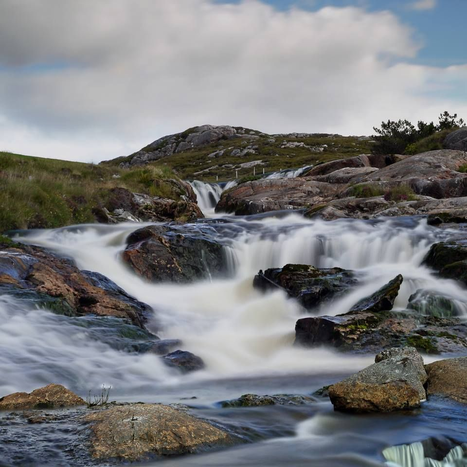 Anhuinnshuide Falls, Isle of Harris, Scotland