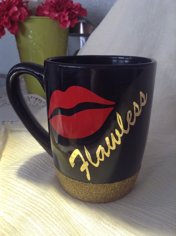 Flawless 12oz glitter dipped coffee mug by