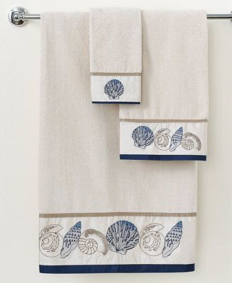 Avanti Bath Towels, Hampton Shells Collection