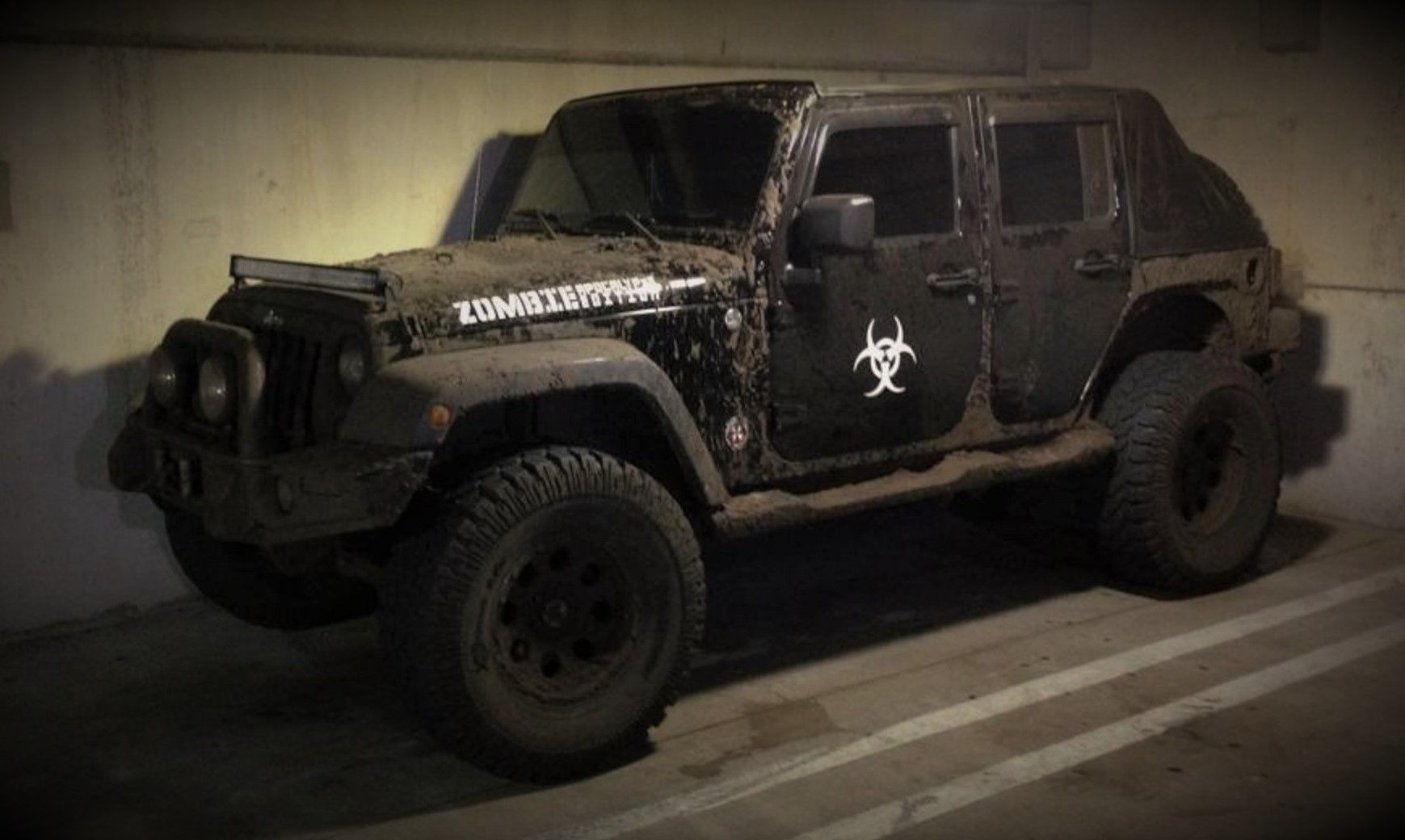 Zombie Apocalypse Edition Assault Jeep Based On The 2007 Wrangler