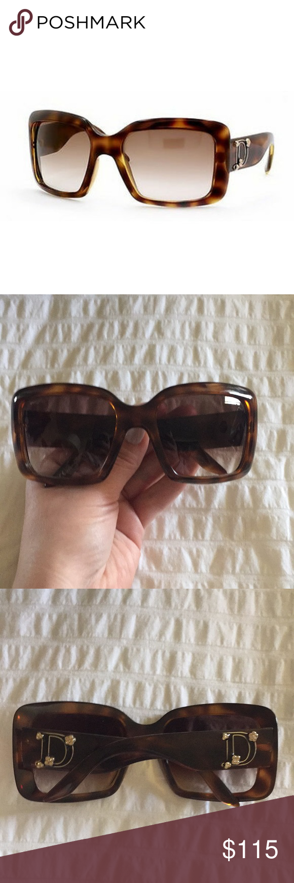 2a167e755de8 Christian Dior Sunglasses Lightly used Dior sunglasses. Dior Couture 1  583S2 57•20 130; tortoise shell sunglasses with embellished