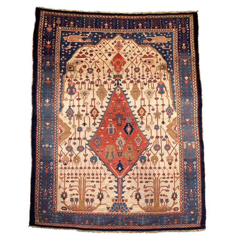 Antique Bakhshaish prayer rug