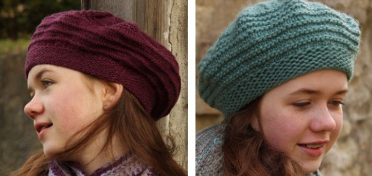 Liatris Knitted Beret Style Hat Free Knitting Pattern Knitted Beret Knitted Hats Knitting