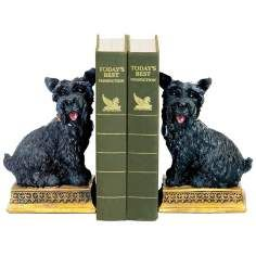 Baron Black and Yellow Bookends Set