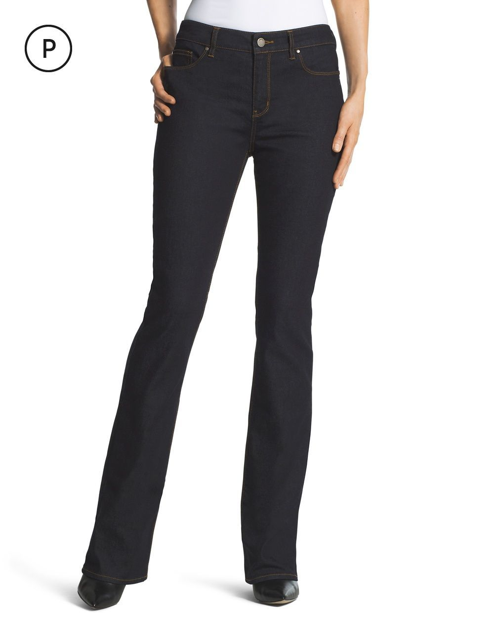 0213ef4eba3 Chico's Women's Petite Platinum Barely Bootcut Jeans, Tampa Rinse, Size:  00P (2P - XS)