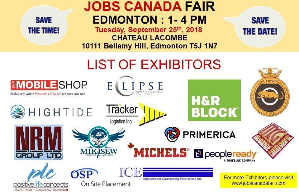 List Of Hiring Companies For Edmonton Job Fair September 25th