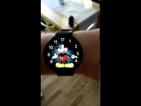 Android Wear Mickey Mouse Watch Face just like Apple