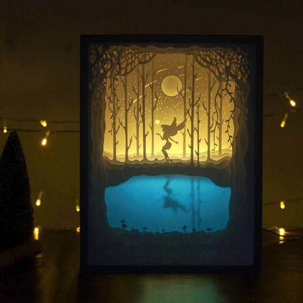 Papercut Light Boxes Shadow Box Art 3d Shadow Box Light Box Diy