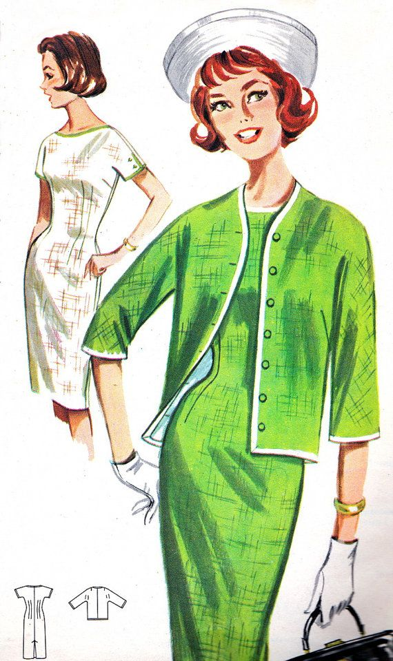Vintage Sewing Pattern 1960s Butterick 2180 Mad Men by paneenjerez ...
