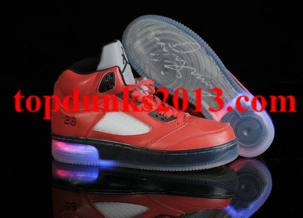 3ad1a0f4c3c Glow In The Dark Jordan 5 Light Up Red Black Fast Shipping | Glow In ...