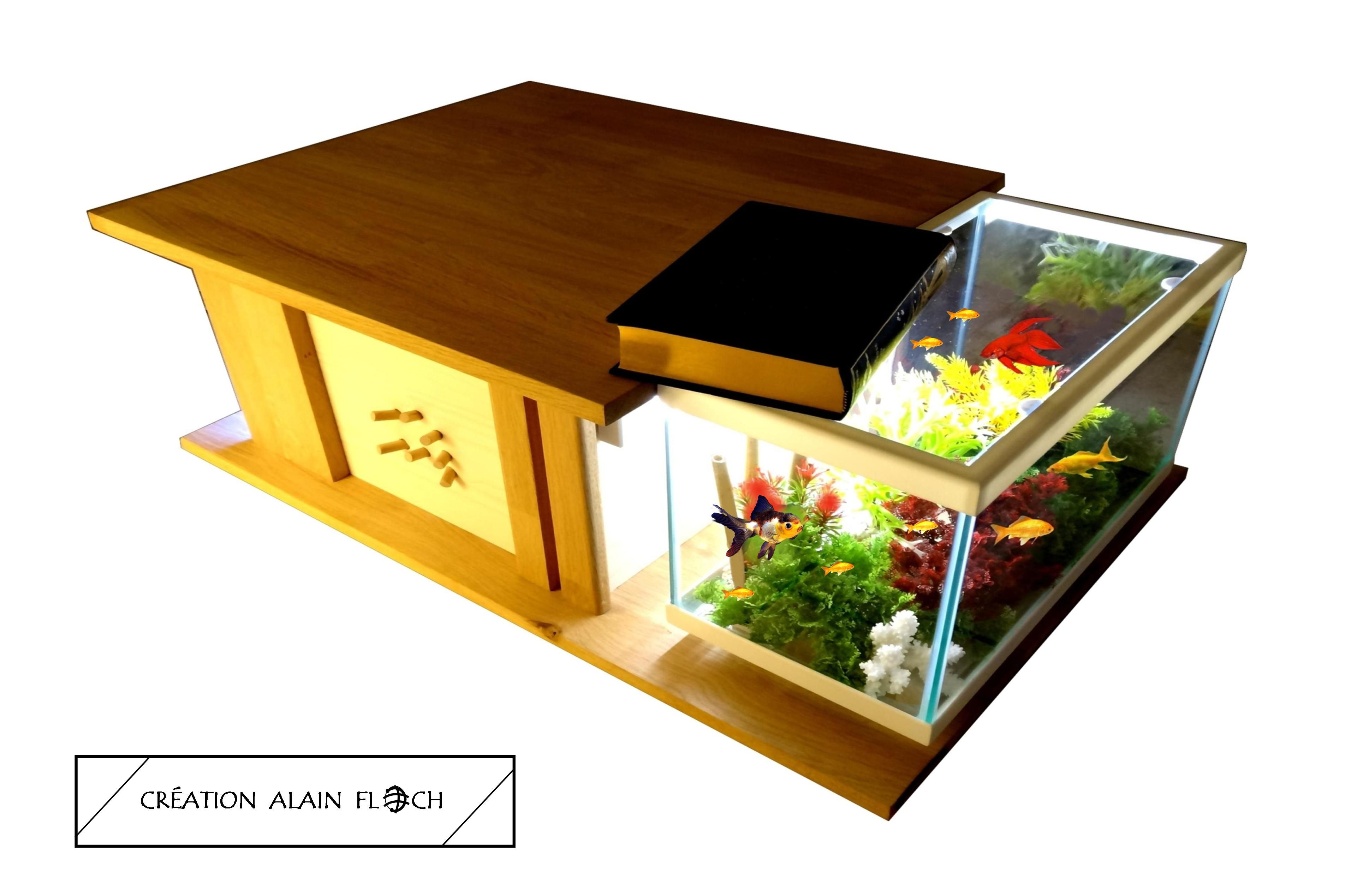 Table basse aquarium AUTHENTICA 8 W | Table basse aquarium terrarium ...
