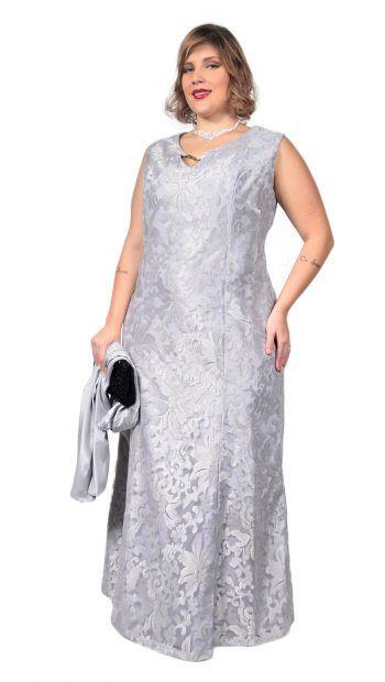 e7abd72d5 Vestido de Festa Plus Size Longo em Renda de Tule Devorê em 2019 | Dresses  my Love | Dresses, Formal dresses e Vestidos
