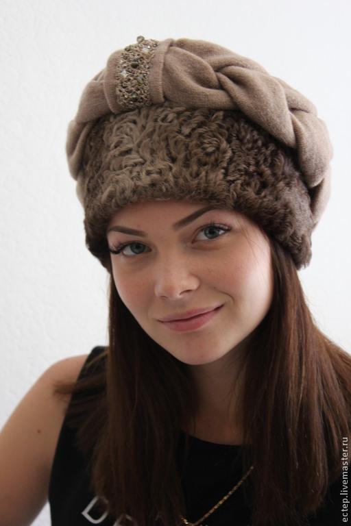 меховая шапка платок