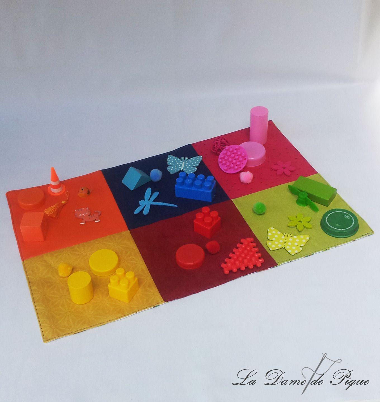 tapis sensoriel des couleurs