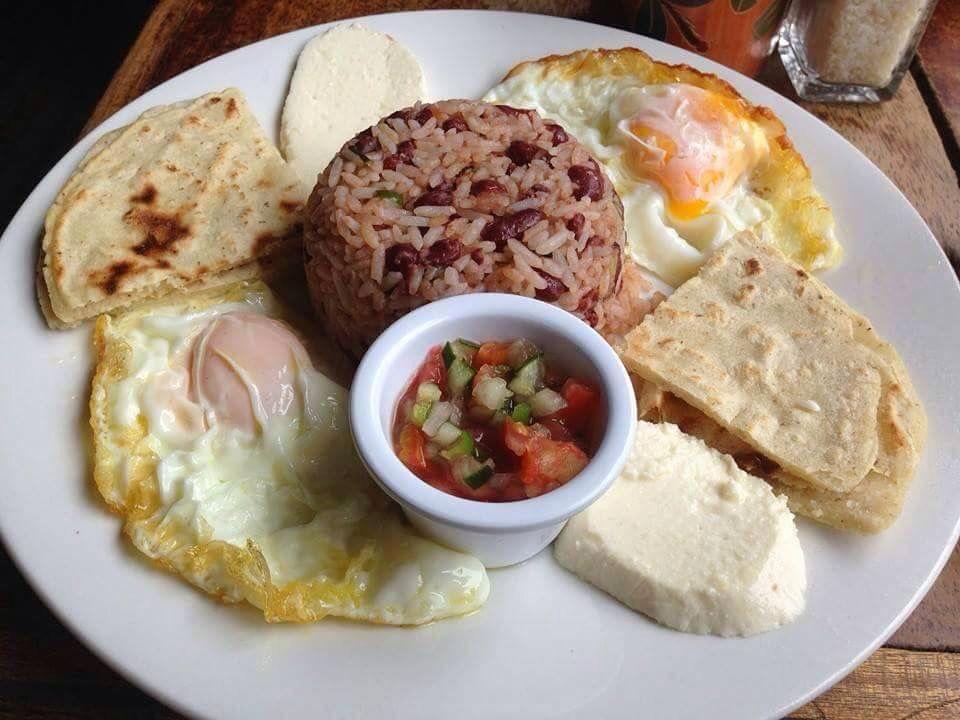 Typical Breakfast On Nicaragua Gallopinto Tortilla Nicaraguan Food Food Recipes