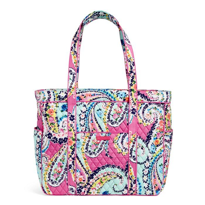 Image of Get Carried Away Tote in Wildflower Paisley  9923129b40186