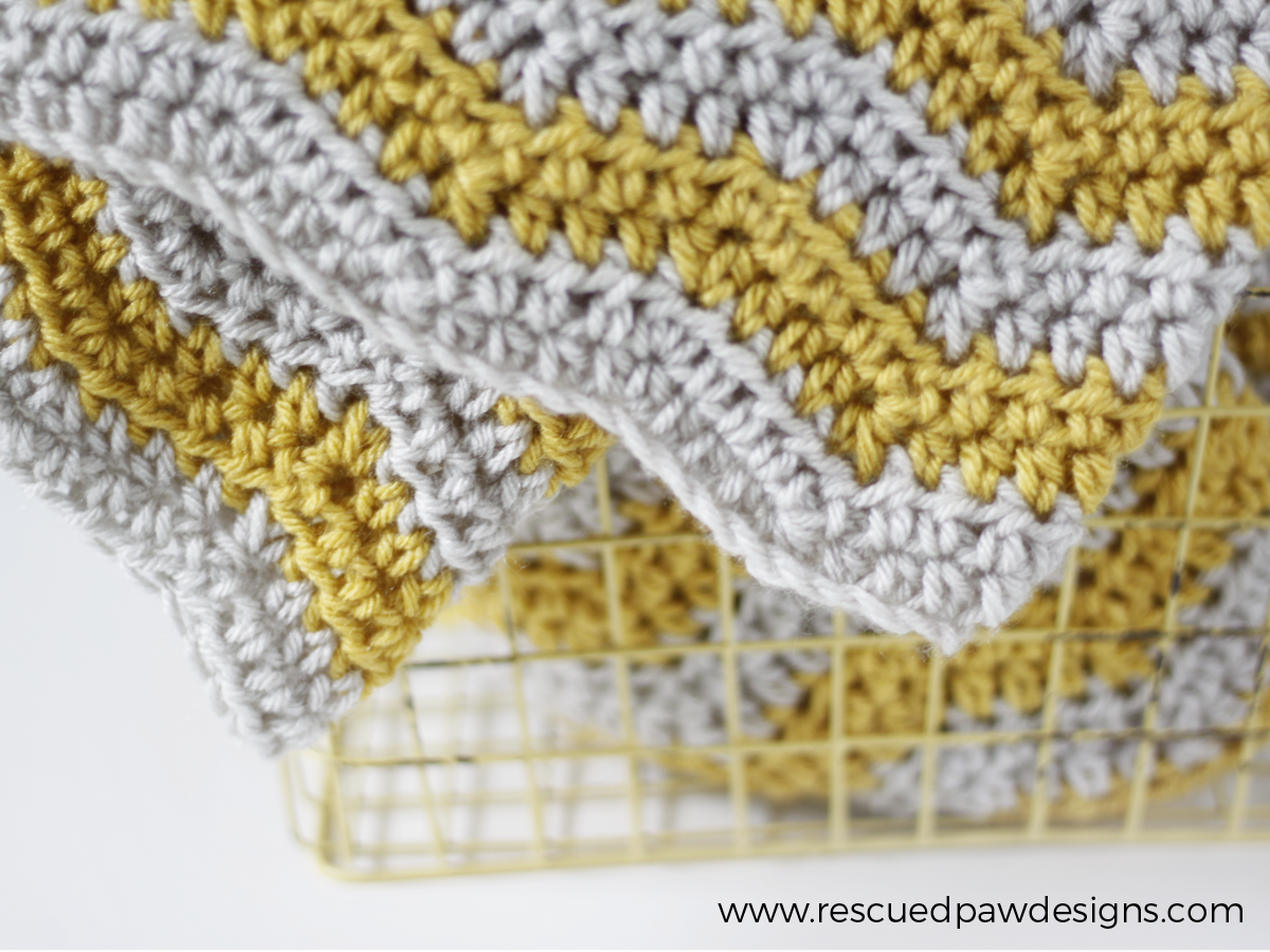 Baby Ripple Crochet Blanket from Rescued Paw Designs | Manta